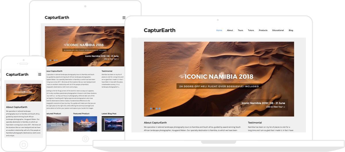 CapturEarth Website by Chris Davies Web Design