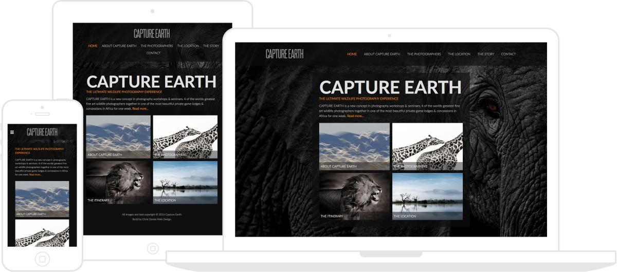 Capture Earth Website by Chris Davies Web Design