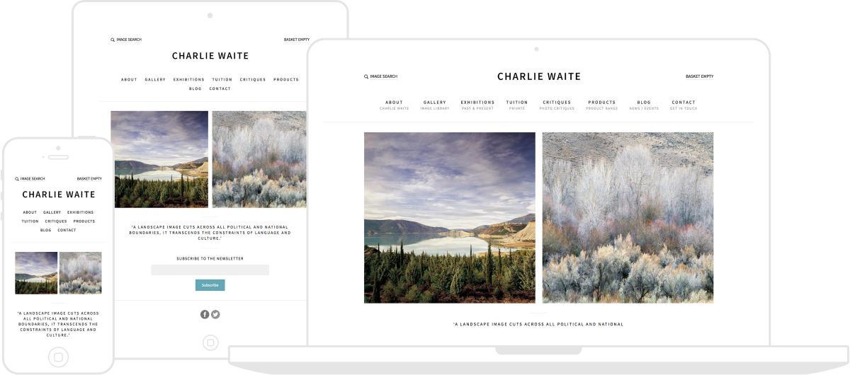 Charlie Waite Photography Website by Chris Davies Web Design