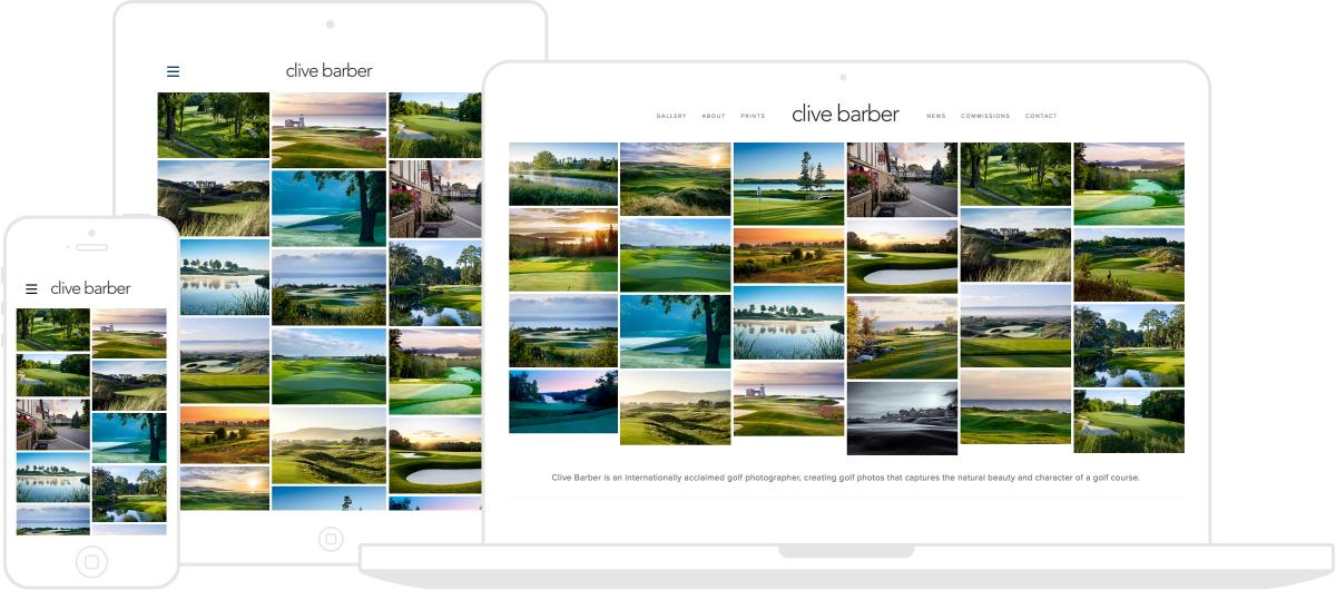 Clive Barber Website by Chris Davies Web Design