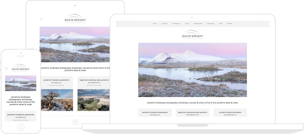 David Speight Photography Website by Chris Davies Web Design