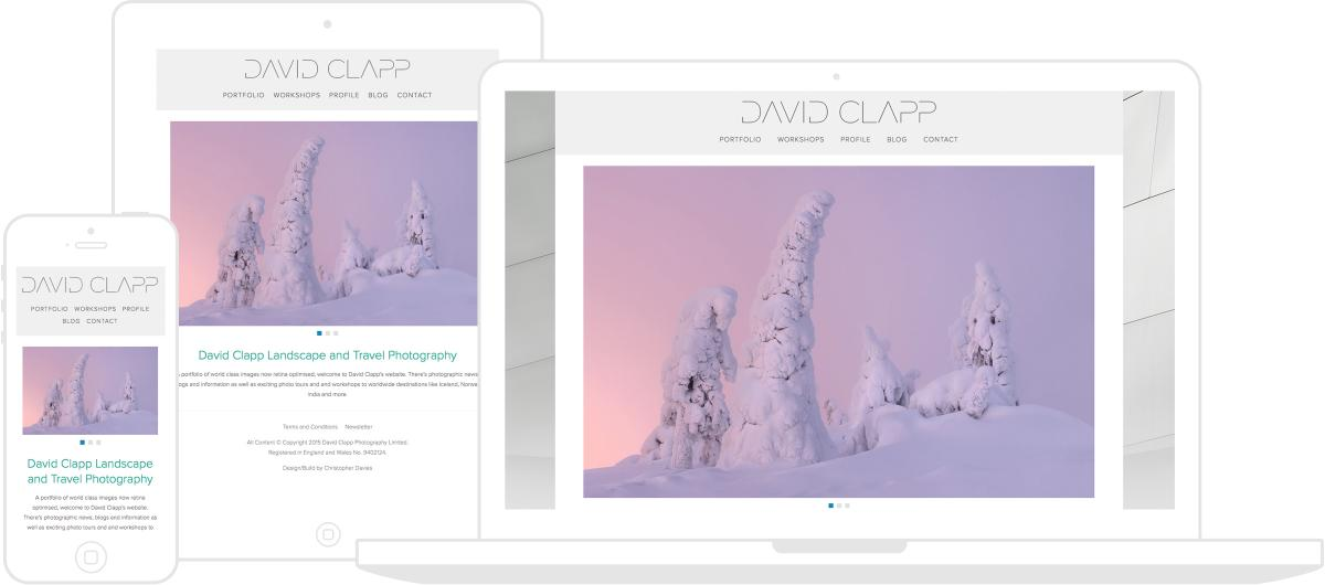 David Clapp Photography Website by Chris Davies Web Design