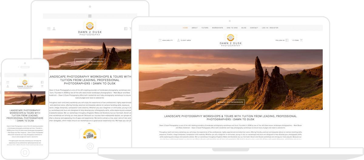 Dawn 2 Dusk Photography Website by Chris Davies Web Design