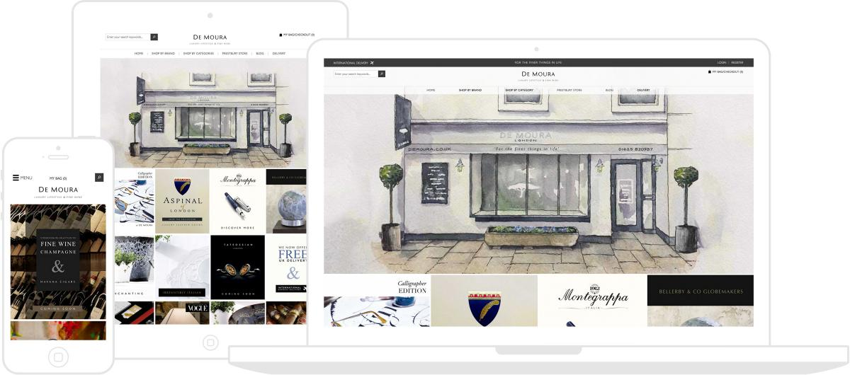 De Moura Website by Chris Davies Web Design