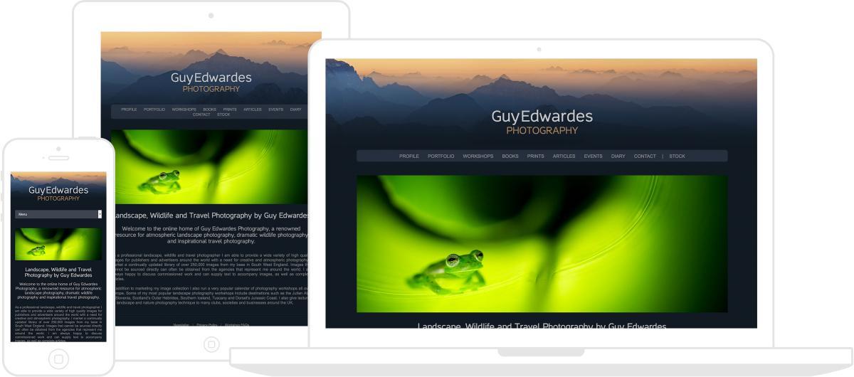 Guy Edwardes Photography Website by Chris Davies Web Design