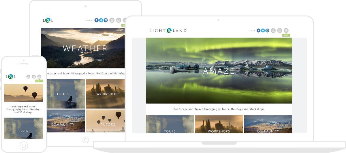 Light & Land Website by Chris Davies Web Design