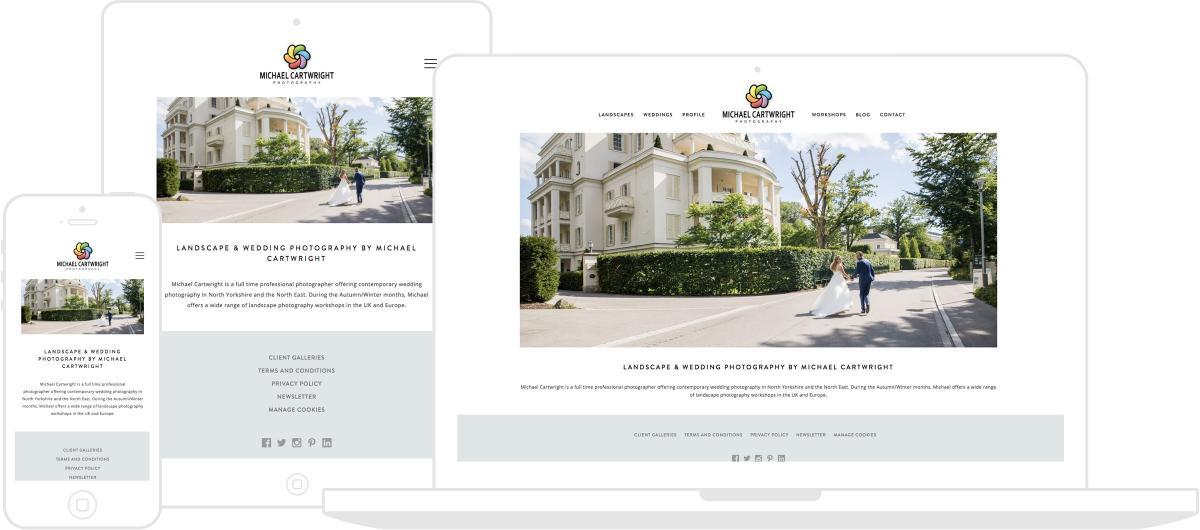 Michael Cartwright Photography Website by Chris Davies Web Design