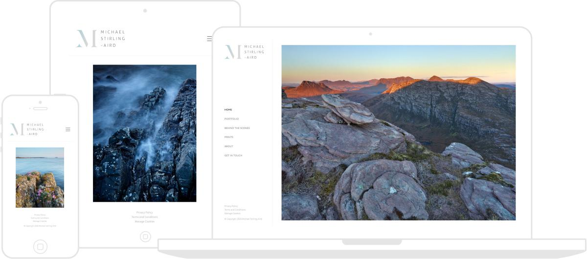 Michael Stirling-Aird Website by Chris Davies Web Design