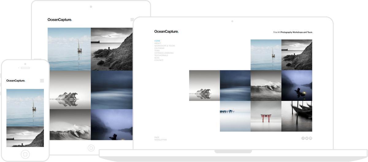 Ocean Capture Website by Chris Davies Web Design