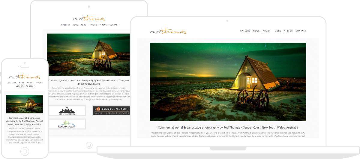 Rod Thomas Photography Website by Chris Davies Web Design