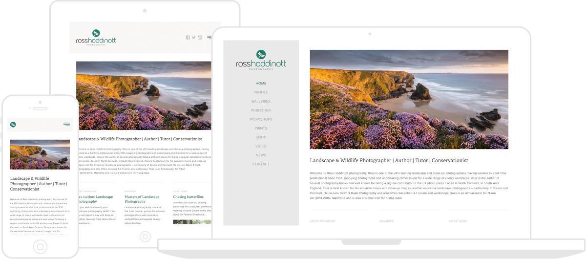 Ross Hoddinott Photography Website by Chris Davies Web Design