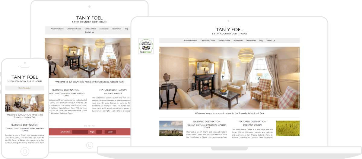 Tan Y Foel Country House Website by Chris Davies Web Design